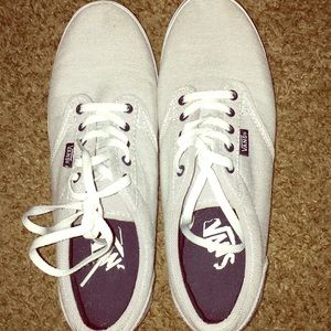 Vans shoes light grey and white striped